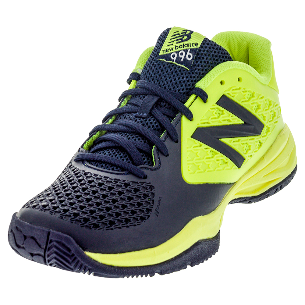 Juniors ` 996v2 Tennis Shoes Yellow And Blue