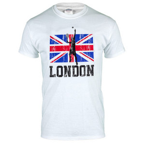 UK Flag Unisex Tennis Tee White