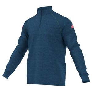 Men`s Club Half-Zip Midlayer Tennis Top Tech Steel