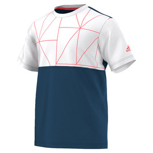 Men`s Club Trend Tennis Tee Tech Steel and White