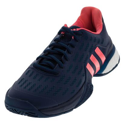 Men`s Barricade 2016 Boost Tennis Shoes Tech Steel and Flash Red