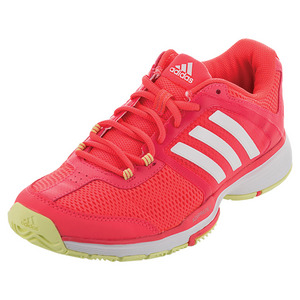 Women`s Barricade Club Tennis Shoes Flash Red and White