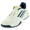 Juniors` Sonic Attack Tennis Shoes White and Tech Steel by ADIDAS