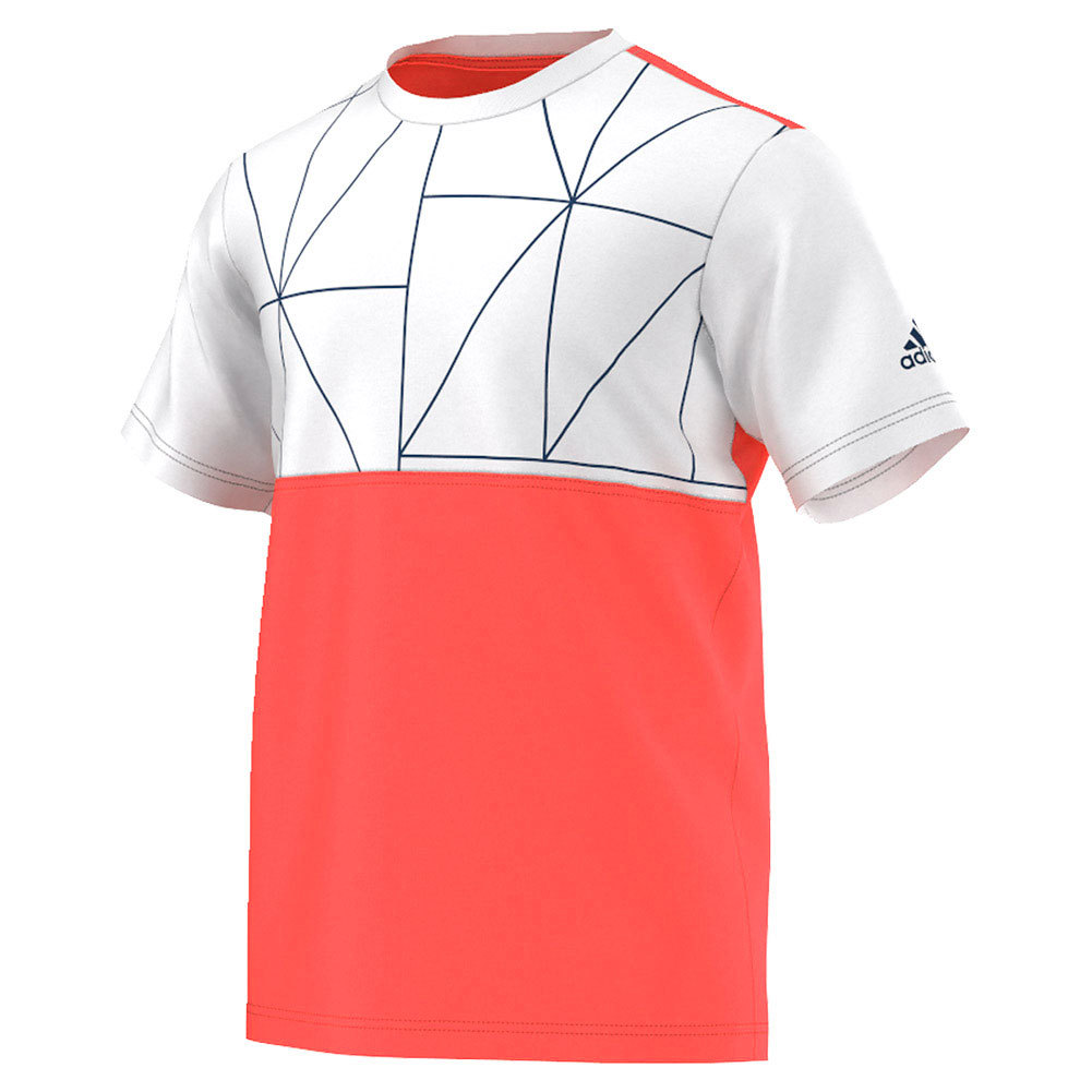 Men's Club Trend Tennis Tee Flash Red And White
