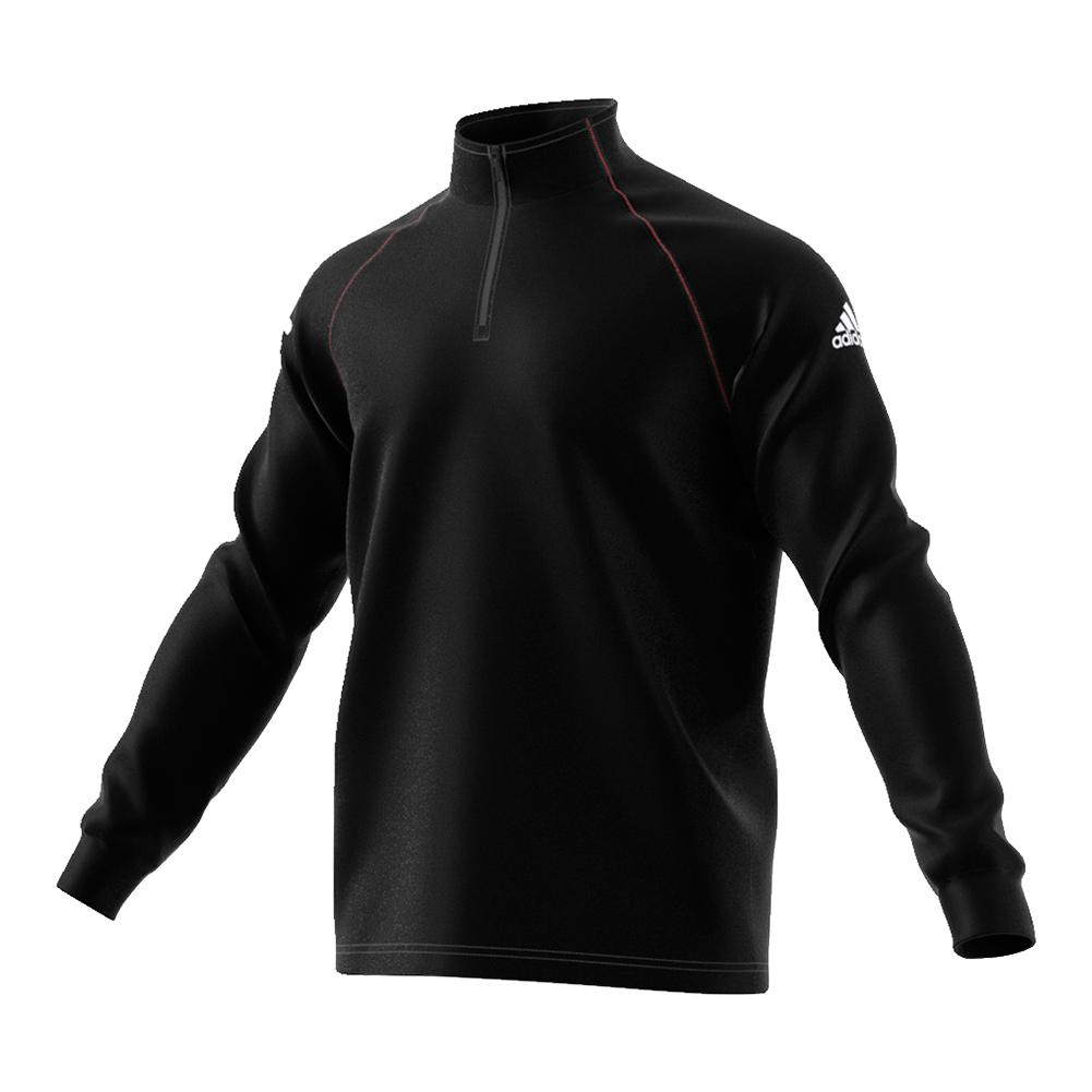 Men's Club Half- Zip Midlayer Tennis Top Black