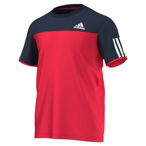 adidas MENS CLUB TENNIS TEE RAY RED/COLL NAVY