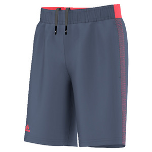 Boys` Barricade Tennis Short Tech Ink and Flash Red