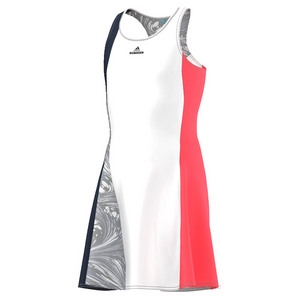 Girls` Stella McCartney Barricade NY Tennis Dress White and Collegiate Navy