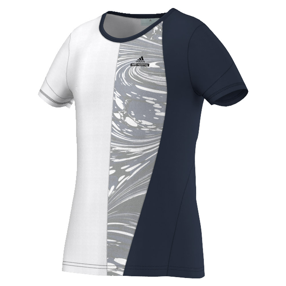 Girls'stella Mccartney Barricade New York Tennis Tee Collegiate Navy And White
