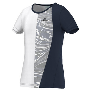 Girls` Stella McCartney Barricade New York Tennis Tee Collegiate Navy and White