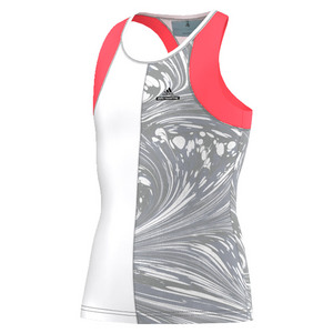 Girls` Stella McCartney Barricade New York Tennis Tank Flash Red and White