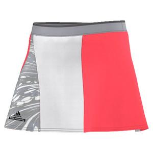 Girls` Stella McCartney Barricade New York Tennis Skort Flash Red and Oystr Gray