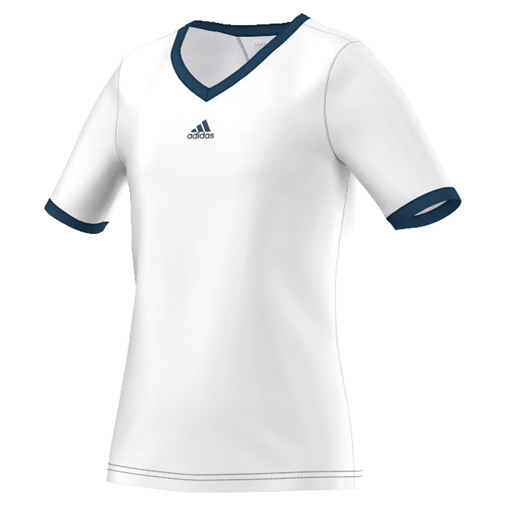 Girls ` Pro Tennis Tee White And Tech Steel