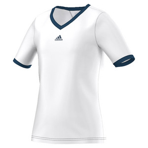 Girls` Pro Tennis Tee White and Tech Steel