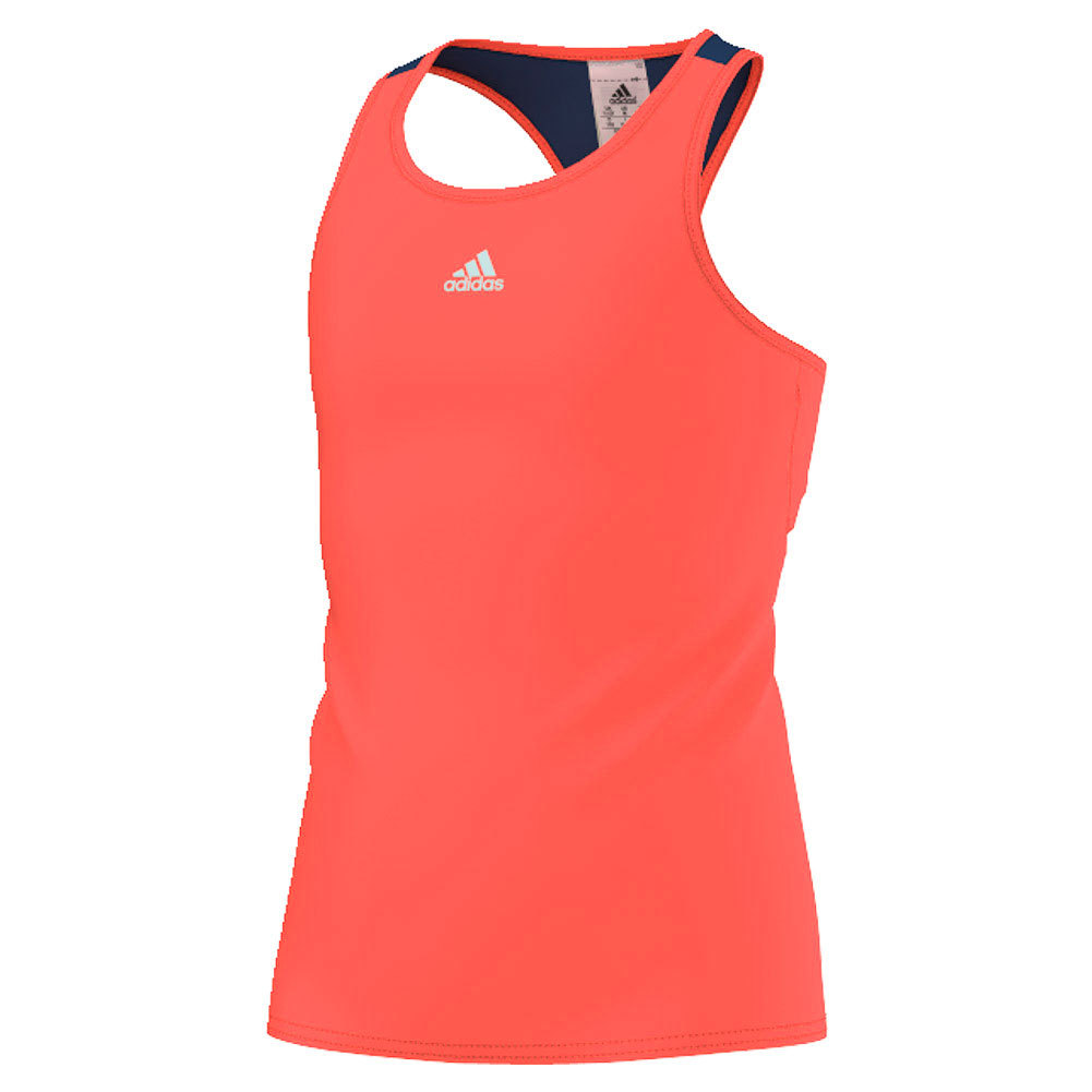 Girls ` Pro Tennis Tank Flash Red And Tech Steel