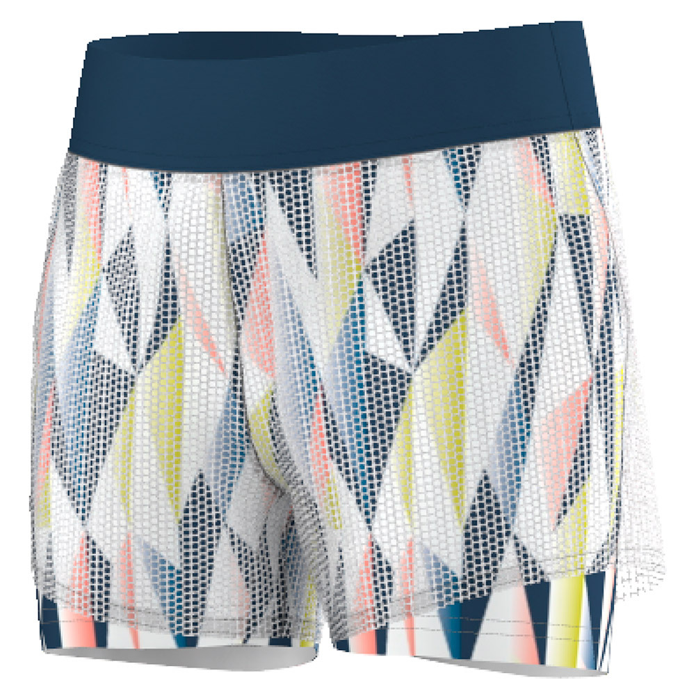 Girls ` Pro Tennis Short White And Tech Steel