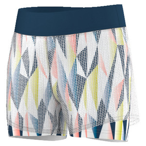Girls` Pro Tennis Short White and Tech Steel