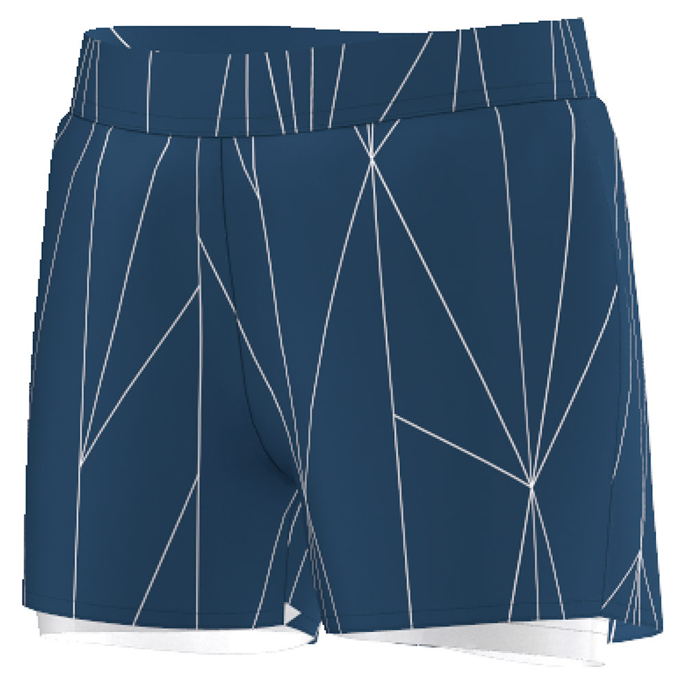 Girls ` Club Printed Tennis Short Tech Steel