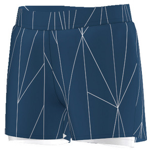 Girls` Club Printed Tennis Short Tech Steel