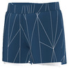 ADIDAS Girls` Club Printed Tennis Short Tech Steel