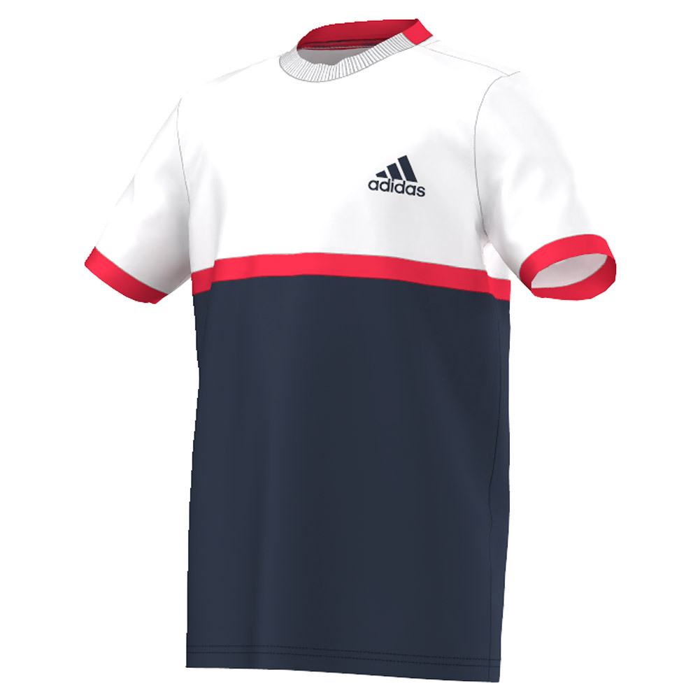 Boys ` Court Tennis Tee Collegiate Navy And White