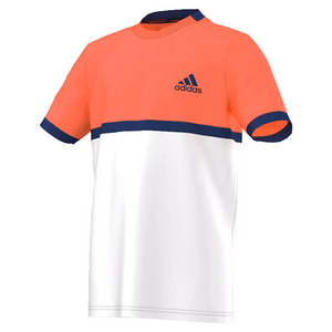 adidas BOYS COURT TENNIS TEE WHITE/FLASH RED