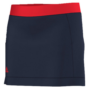 Girls` Court Tennis Skort Collegiate Navy and Ray Red