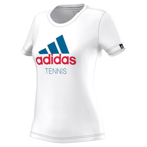 Women`s Graphic Tennis Tee White