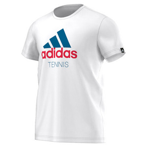 Men`s Graphic Tennis Tee White