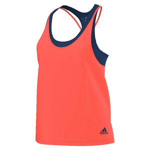 adidas WOMENS CLUB TRD TNS TANK FLASH RD/STL