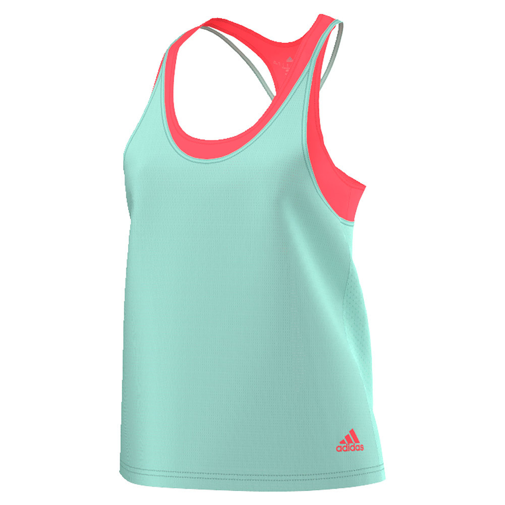 Women's Club Trend Tennis Tank Ice Green And Flash Red