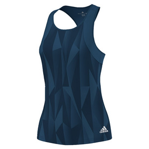 Women`s Club Printed Tennis Tank Tech Steel