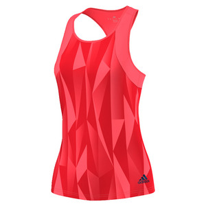 Women`s Club Printed Tennis Tank Flash Red