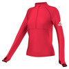 ADIDAS Women`s Performer Half-Zip Jacket Ray Red