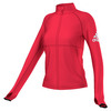 ADIDAS Women`s Performer Full Zip Jacket Ray Red