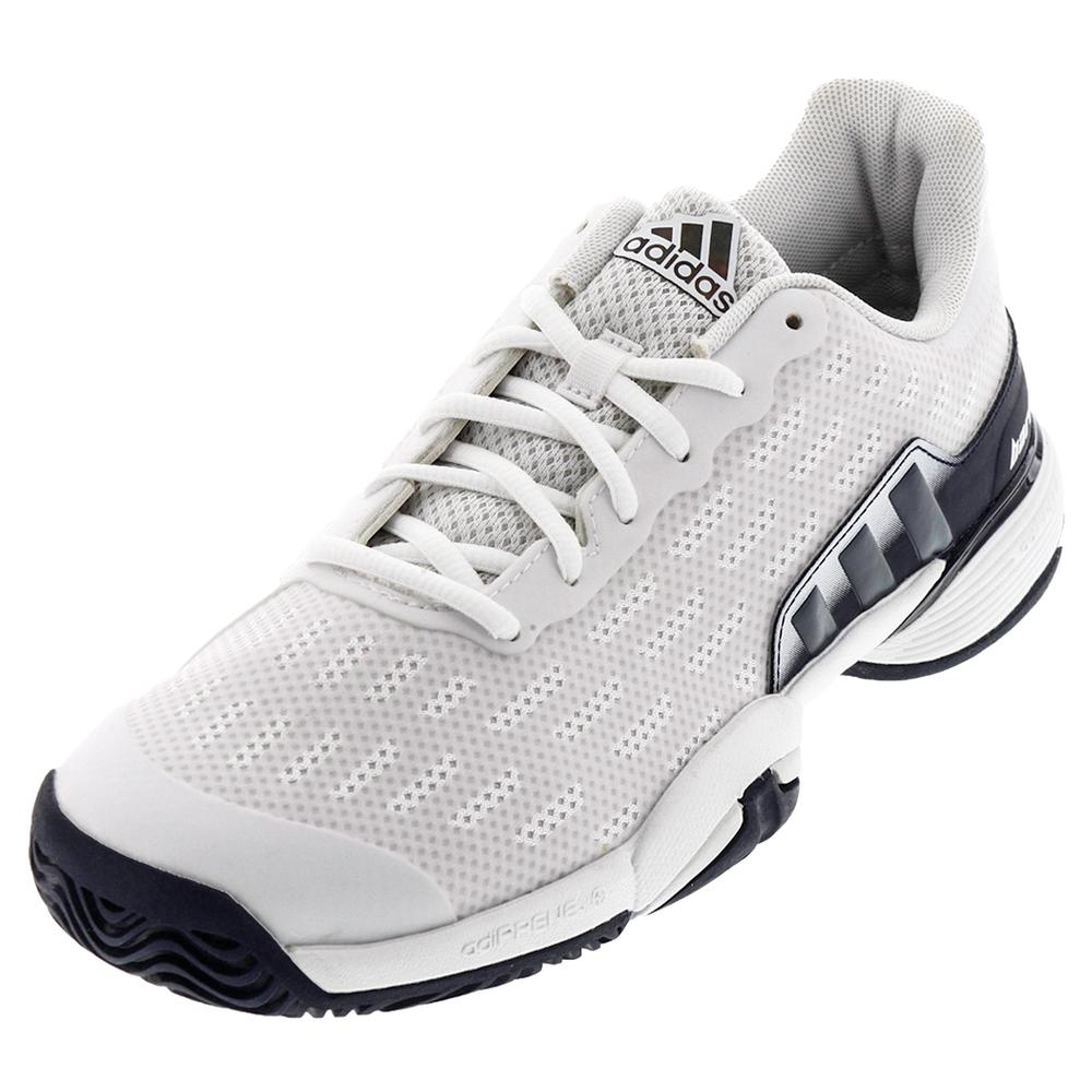 Juniors ` Barricade 2016 Tennis Shoes White And Collegiatge Navy