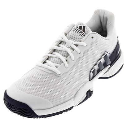 Juniors` Barricade 2016 Tennis Shoes White and Collegiatge Navy
