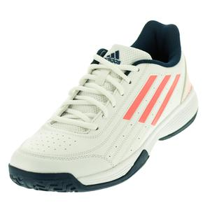 Juniors` Sonic Attack Tennis Shoes White and Flash Red