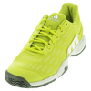 ADIDAS Juniors` Barricade 2016 Tennis Shoes Shock Slime and White