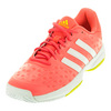 ADIDAS Juniors` Barricade Club Tennis Shoes Craft Pink and White