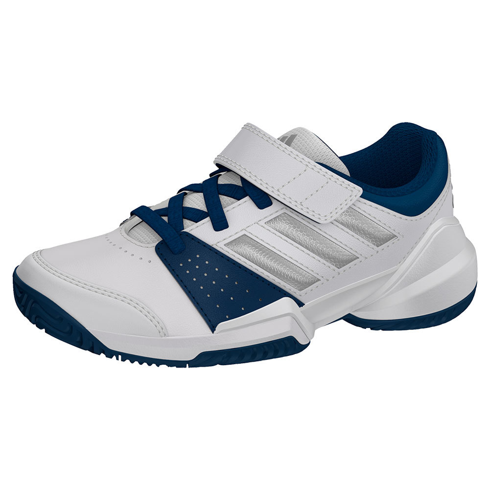 Juniors ` Court El C Tennis Shoes White And Tech Steel