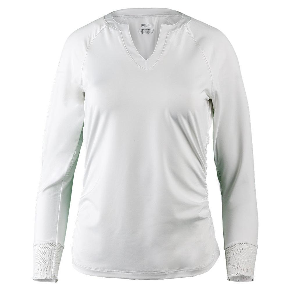 Women's Ace 3/4 Sleeve Tennis Top White