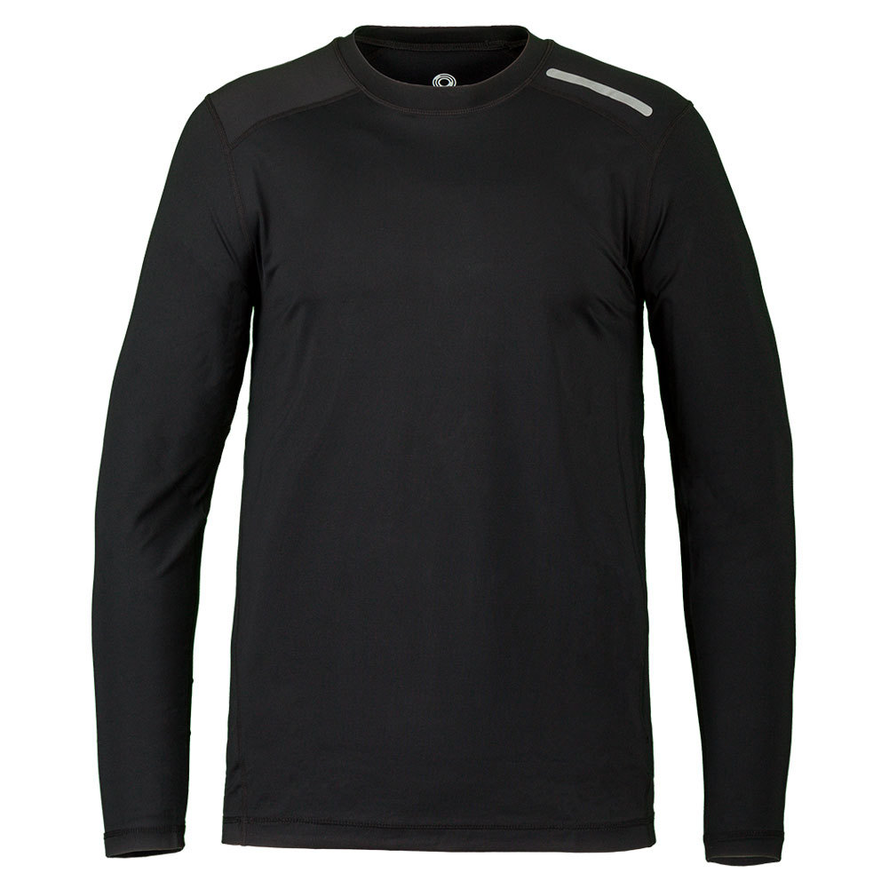 Men's Long Sleeve Jet Tennis Tee Black