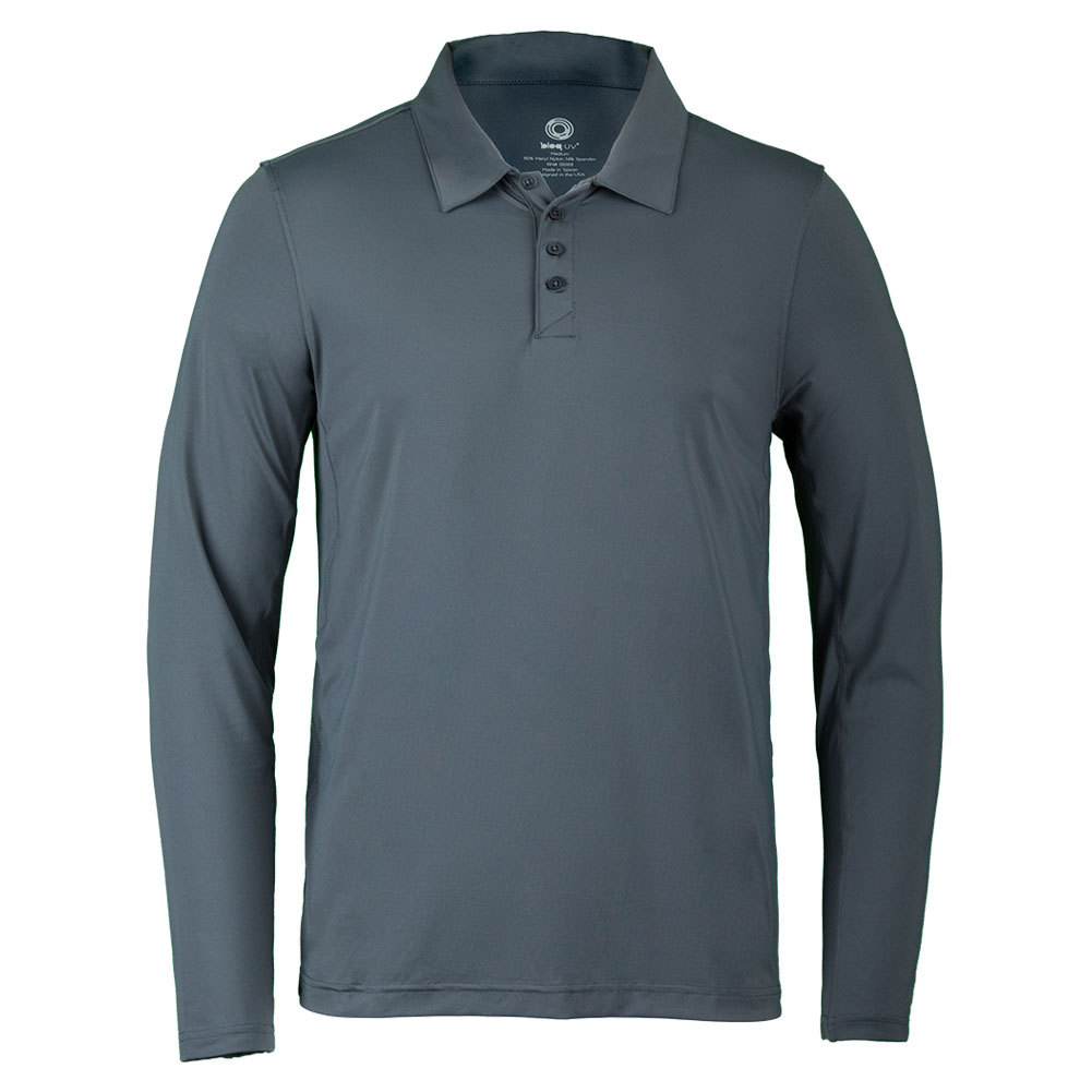 Men's Long Sleeve Tennis Polo Smoke