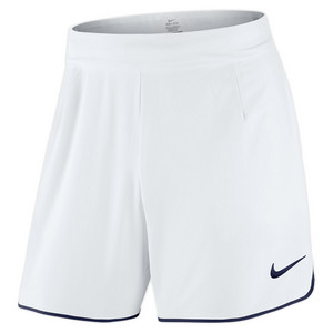 Men`s Gladiator Premier 7 Inch Tennis Short White and Midnight Navy