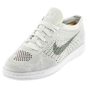 Women`s Classic Ultra Flyknit Tennis Shoe White and Wolf Gray