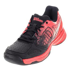 Juniors` Kaos Comp Tennis Shoes Radiant Red and Black