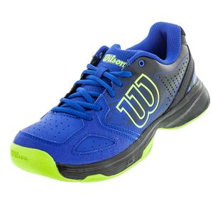 Juniors` Kaos Comp Tennis Shoes Blue Iris and Black