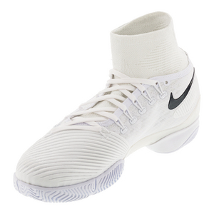 Men`s Air Zoom Ultrafly Tennis Shoes White and Black