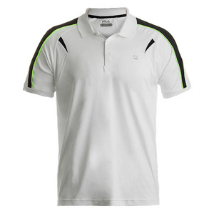 Men`s Alpha Tennis Polo White